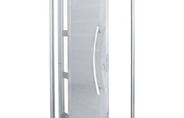 Porta Pivotante em Alumínio Branco